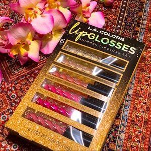 🐼 L.A. Colors shimmer lip gloss gift set 3/$25
